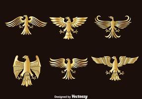 Vetor de símbolo da águia dourada
