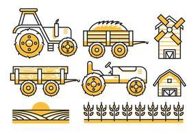 Ícones da agricultura vetor