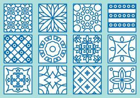 Ícones do Azulejo vetor