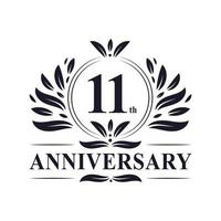 11º aniversário logotipo vetor