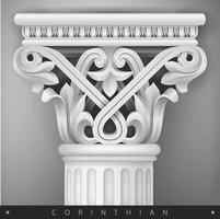 capital de pedra da coluna oriental