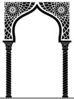 arco arquitetônico de estilo árabe ou oriental