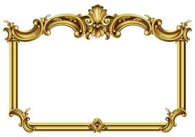 quadro barroco rococó clássico dourado horizontal vetor