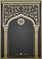 arco oriental, indiano ou árabe de conto de fadas