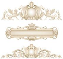 conjunto de decoração de fachada arquitetônica clássica