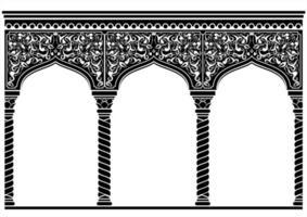 fachada oriental em arco