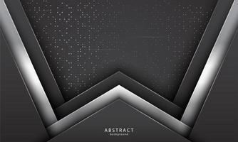 formas sobrepostas realistas com cores preto e prata vetor