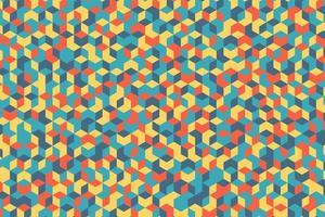 design de mosaico de forma geométrica colorida vetor