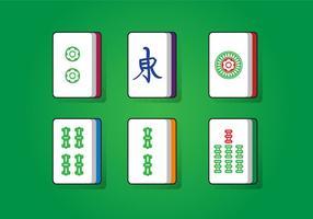 Quadrado de sorte mahjong vetor