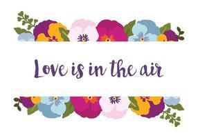 O amor está no ar vetor