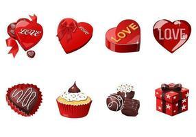 Pacote de vetores do ícone do amor e do dia dos namorados