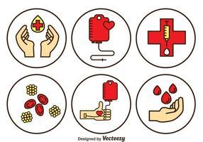 Conjunto de vetores de doação de sangue
