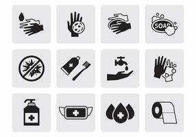 Vetor de ícones de higiene gratuita