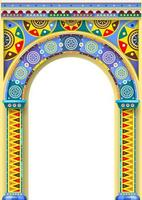 um arco de cores brilhantes de um carrossel