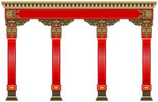 o arco chinês vermelho oriental vetor