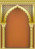 arco de ouro em estilo oriental vetor