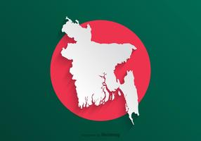 Papel livre bangladeshn mapa vetor
