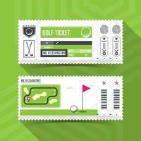 conjunto de bilhetes de golfe vetor