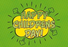 Ilustração do dia da criança do estilo cómico vetor
