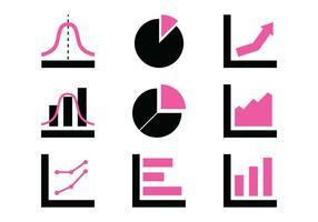 Ícones do gráfico vetor