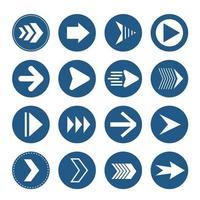 coleção seta azul vetor
