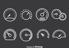 Ícone do medidor conjunto de vetores