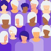 conceito de cidadãos idosos e jovens mulheres vetor