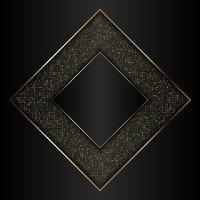 ouro decorativo e design de diamante preto vetor