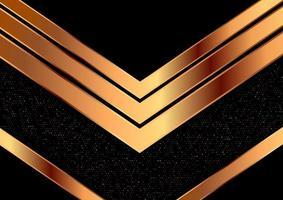 design metálico decorativo seta dourada vetor