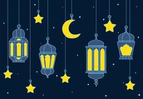 Fundo da lanterna árabe vetor