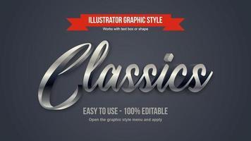 cromo prata 3d elegante caligrafia design vetor