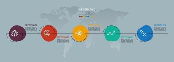 infográfico de negócios de gota de água colorida
