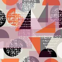 fundo retrô moderno com diferentes formas geométricas vetor