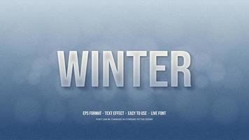 efeito de estilo de texto com escrita 3d com congelamento