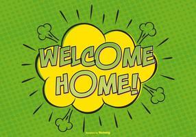 Bem-vindo ilustração comic em casa vetor