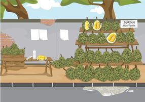 Ilustração livre de Durian vetor