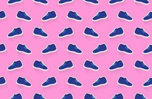 padrão sem emenda de sapatos de tênis vetor