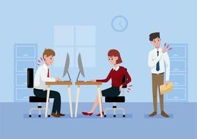 síndrome do escritório dos desenhos animados