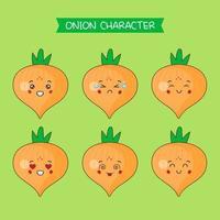 conjunto de caracteres de cebola bonito