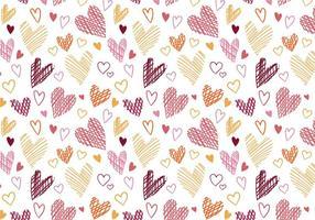 Vetores de padrões de corações livres