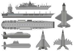 Vector de aviões militares grátis