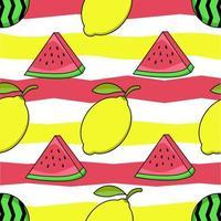 impressão de melancia e limão vetor