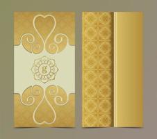 modelo de cartão de visita de ouro chique vetor