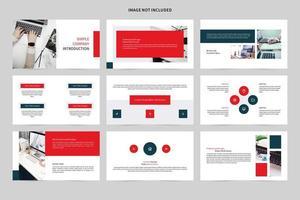 conjunto de slides de demonstração de introdução de empresa simples vetor
