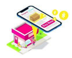 venda de loja de pequenas empresas vetor