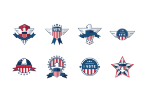 Emblema Presencial de selo vetor