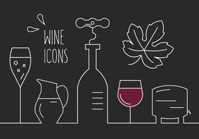 Ícones de vinho grátis vetor