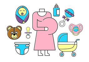 Ícones grátis do bebê vetor
