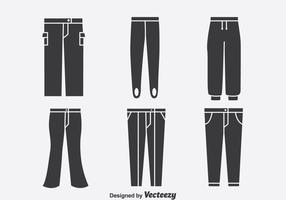 Vetor de ícones de coleção de calças