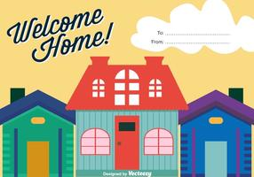 Bem-vindo fundo do vetor em casa